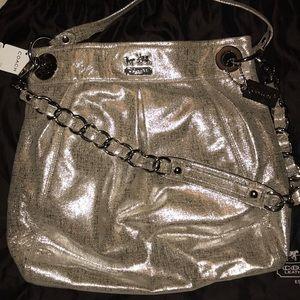 Metallic Coach Shoulder Bag
